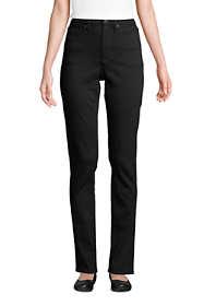 Women's Tall High Rise Straight Leg Shaping Black Jeans
