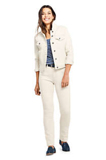 Women's Tall Mid Rise Straight Leg Jeans - White, alternative image