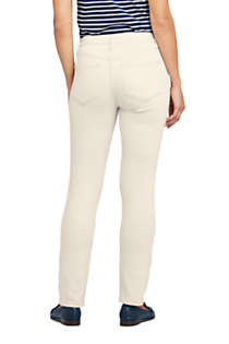 Women's Tall Mid Rise Straight Leg Jeans - White, Back