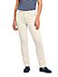 Naturweiße Straight Fit Jeans Mid Waist für Damen