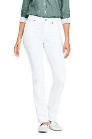 Women's Tall Mid Rise Straight Leg Jeans - White