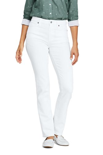 Women's Mid Rise Straight Leg Jeans, Natural