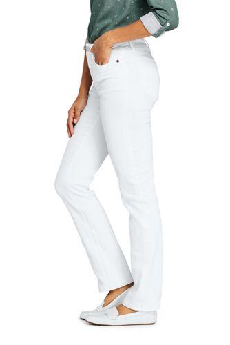 Women's Tall Mid Rise Straight Leg Jeans - White