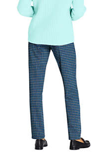 Women's Petite Sport Knit High Rise Elastic Waist Pull On Pant - Print, Back