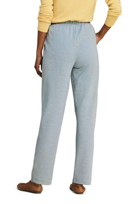Women's Petite Sport Knit High Rise Elastic Waist Pull On Pant - Print