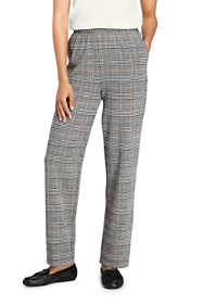 Women's Petite Sport Knit High Rise Elastic Waist Pull On Pant - Print