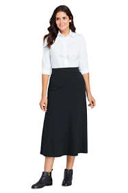 Women's Ponte Knit Boot Midi Skirt