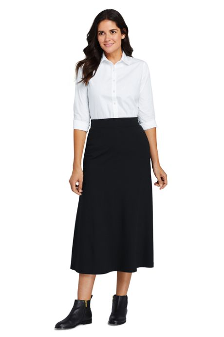 Women's Petite Ponte Knit Midi Skirt