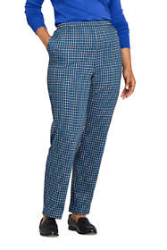 Women's Plus Size Petite Sport Knit High Rise Elastic Waist Pull On Pant - Print