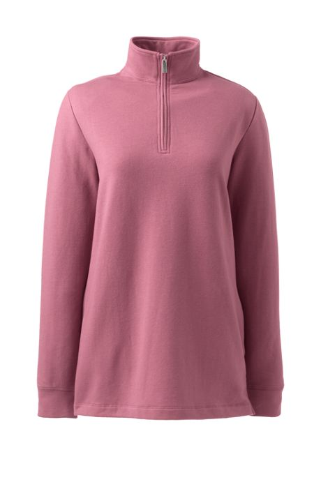 Women's Serious Sweats Quarter Zip Long Sleeve Tunic Sweatshirt