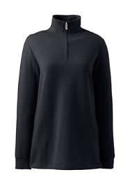 Women's Plus Size Serious Sweats Quarter Zip Long Sleeve Tunic Sweatshirt