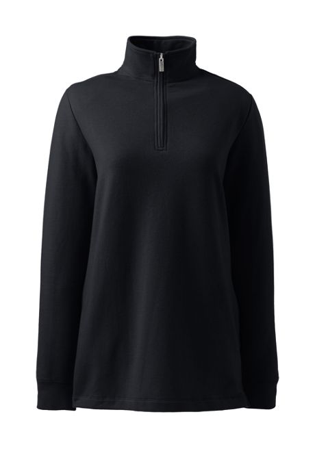 Women's Tall Serious Sweats Quarter Zip Long Sleeve Tunic Sweatshirt