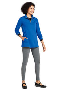 Women's Serious Sweats Quarter Zip Long Sleeve Tunic Sweatshirt, Unknown