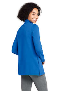 Women's Serious Sweats Quarter Zip Long Sleeve Tunic Sweatshirt, Back