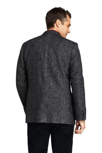 Men's Traditional Fit Pattern Stretch Wool Sport Coat