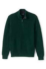Men's Tall Cotton Drifter Marl Quarter Zip Sweater