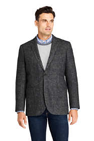 Men's Tailored Fit Pattern Stretch Wool Sport Coat