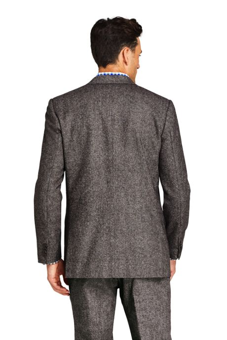 Men's Tailored Fit Wool Birdseye Sport Coat