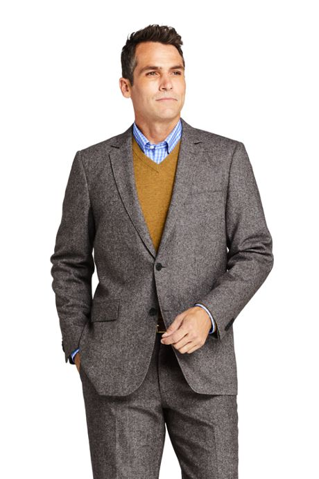 Men's Traditional Fit Wool Birdseye Sport Coat