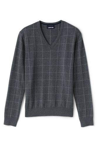 Men's Patterned Fine Gauge Cotton Jumper