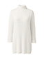 Women's 3/4 Sleeve Funnel Neck Cable Tunic Jumper