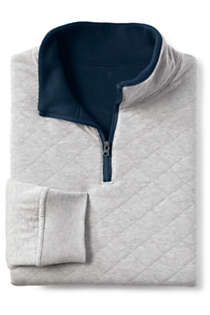 Men's Quilted Reversible Bedford Rib Quarter Zip Sweater, alternative image