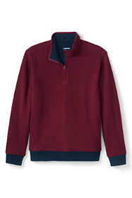 Men's Quilted Reversible Bedford Rib Quarter Zip Sweater