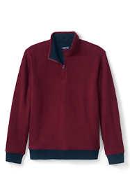 Men's Quilted Reversible Bedford Rib Quarter Zip Sweater