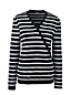Women's Stripe Cashmere V-neck Wrap Jumper