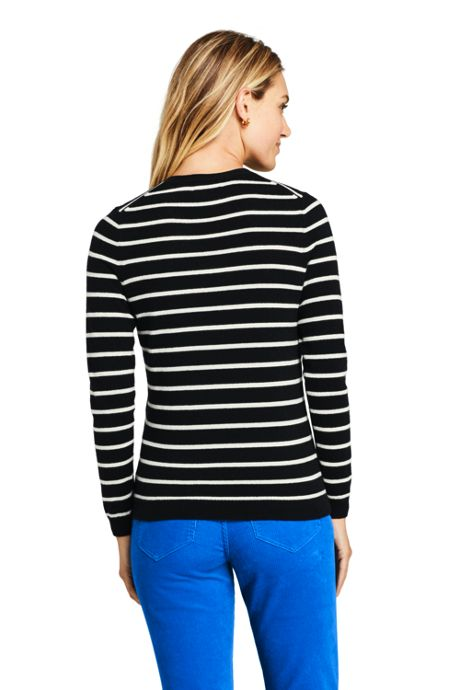 Women's Petite Cashmere V-neck Wrap Sweater - Print