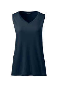 Women's Petite Cotton Vneck Tank Top