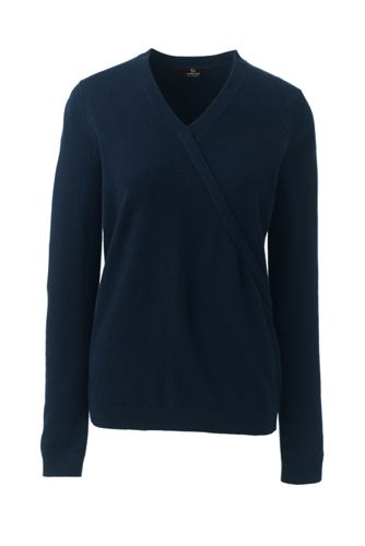 Women's Cashmere V-neck Wrap Jumper
