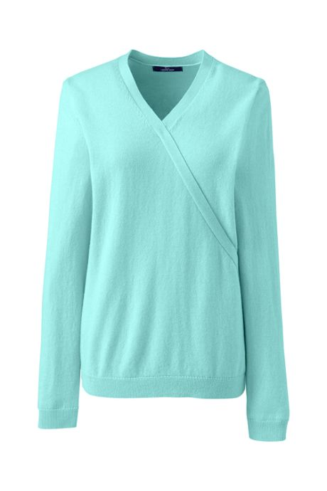 Women's Petite Cashmere V-neck Wrap Sweater