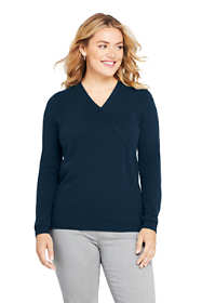 Women's Plus Size Cashmere V-neck Wrap Sweater