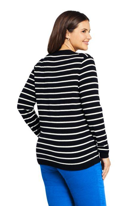 Women's Plus Size Cashmere V-neck Wrap Sweater - Print