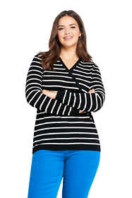 Women's Plus Size Cashmere V-neck Wrap Pattern Sweater
