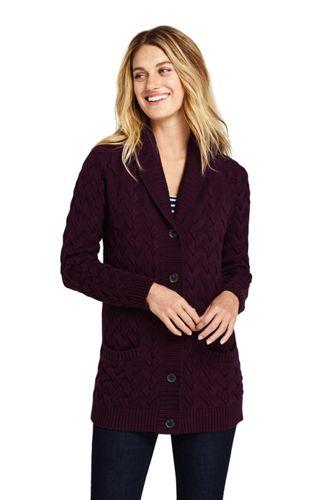 Women's Petite Drifter Cotton Shawl Collar Cardigan