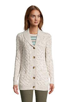 Women's Drifter Cotton Cable Shawl Collar Cardigan