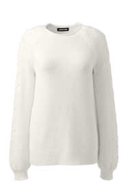 Women's Plus Size Cotton Blend Sweater Texture