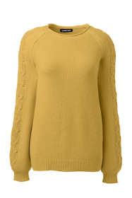 Women's Plus Size Lofty Cotton Blend Texture Sweater