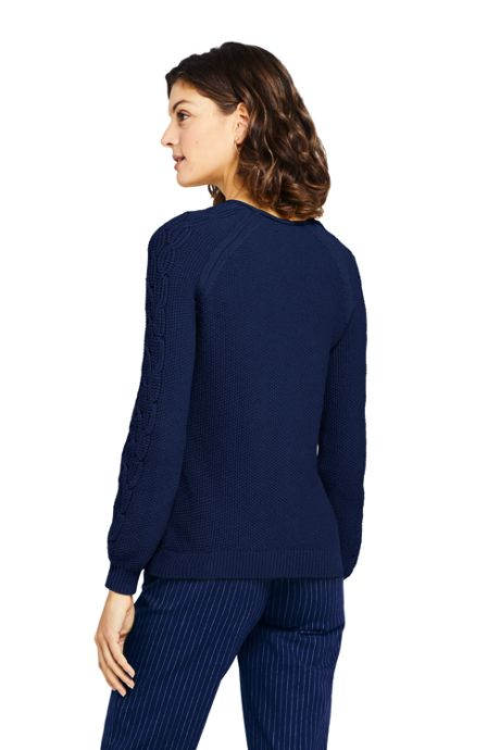 Women's Tall Cotton Blend Sweater Texture