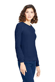 Women's Tall Cotton Blend Sweater Texture