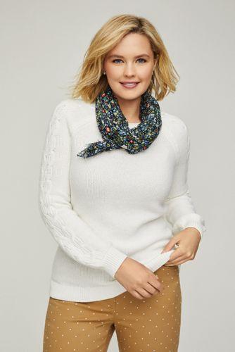 Women's Plus Size Cotton Blend Sweater Texture