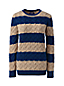 Women's Plus Striped Cotton Cable Jumper