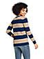 Women's Petite Striped Cotton Cable Jumper