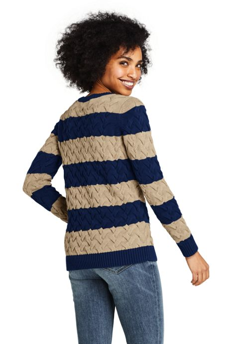 Women's Drifter Cotton Crew Neck Stripe Sweater