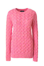Women's Cotton Cable Drifter Crewneck Sweater