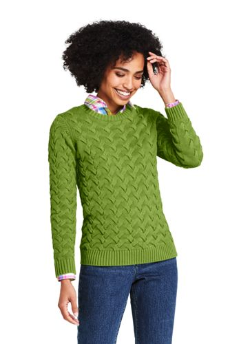 Women's Plus Cotton Cable Jumper