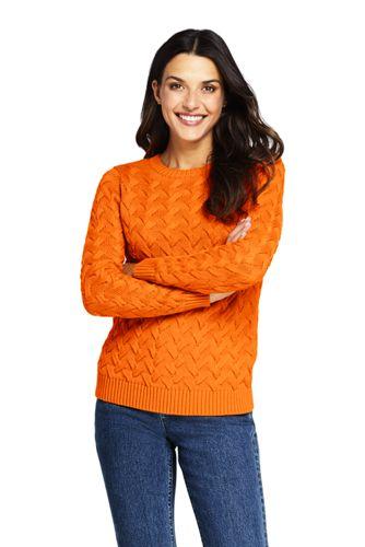 Women's Drifter Cotton Crew Neck Sweater by Lands' End