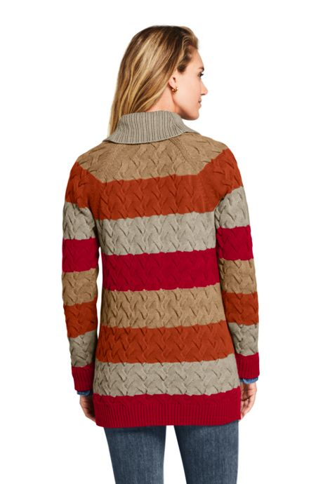 Women's Cotton Drifter Shawl Cardigan Sweater Striped